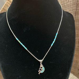 Jewelry - Navajo 925 Liquid Silver Kokopelli Necklace